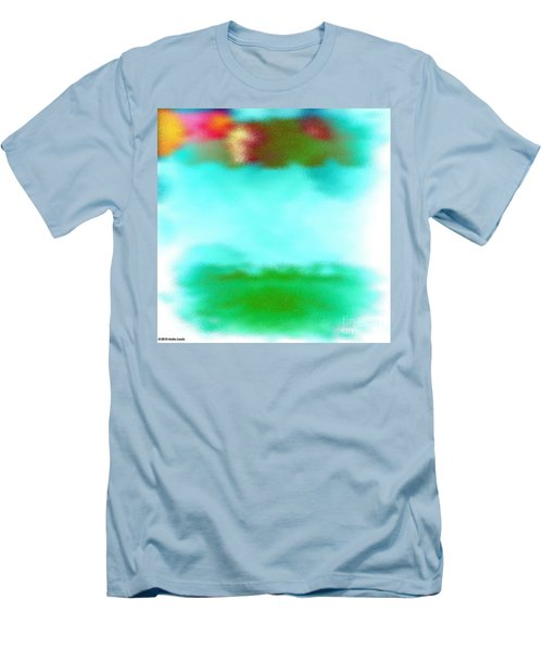 Men's T-Shirt (Slim Fit) featuring the digital art Peaceful Noise by Anita Lewis