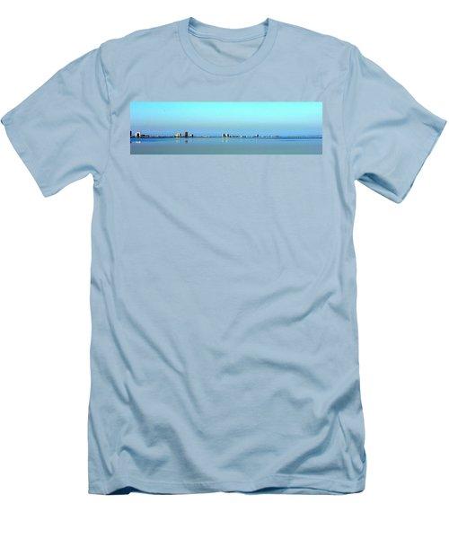 Peaceful Pensacola Beach Men's T-Shirt (Slim Fit)