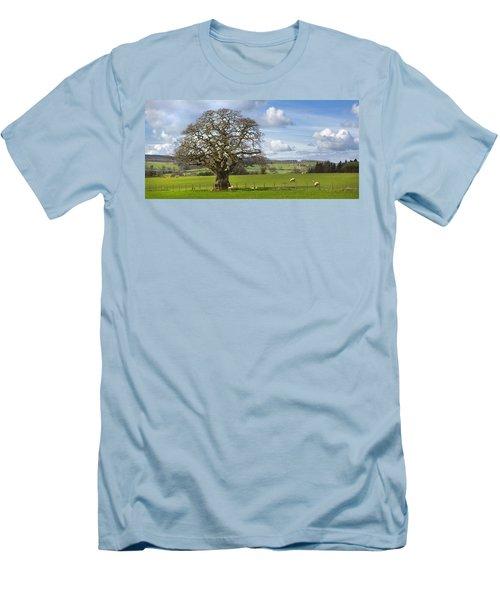 Peak District Tree Men's T-Shirt (Athletic Fit)