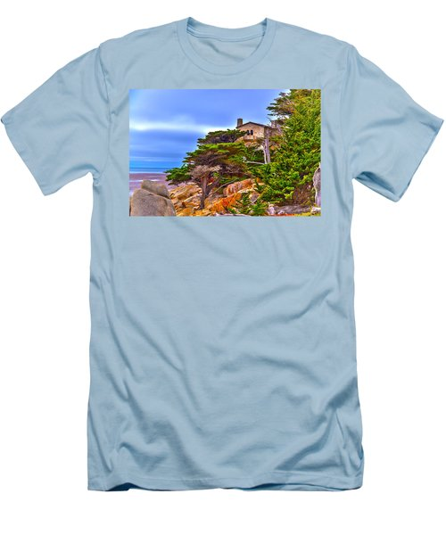 Pebble Beach Ca Men's T-Shirt (Athletic Fit)