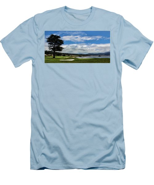 Pebble Beach - The 18th Hole Men's T-Shirt (Athletic Fit)