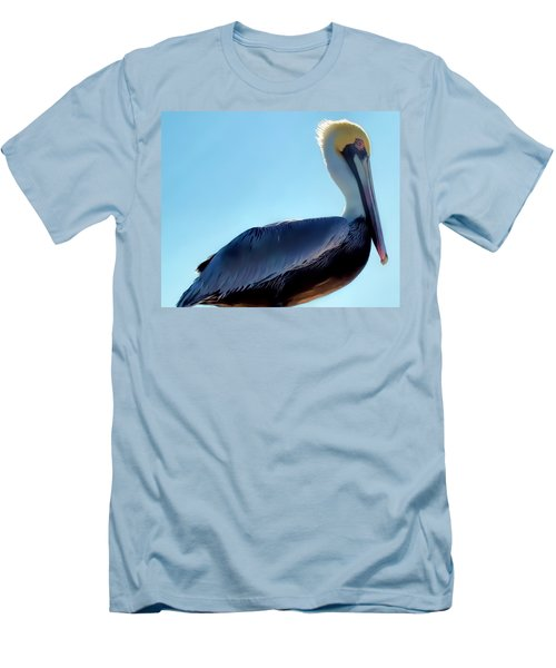 Men's T-Shirt (Slim Fit) featuring the photograph Pelican 1 by Dawn Eshelman