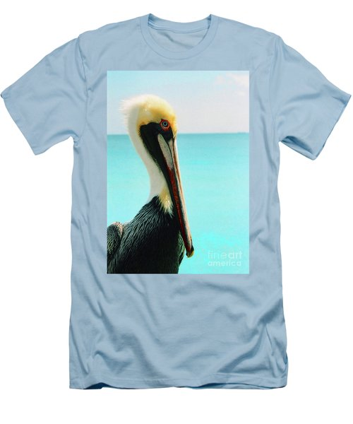 Pelican Profile And Water Men's T-Shirt (Athletic Fit)