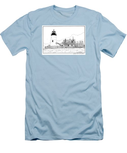 Pemaquid Point Lighthouse Men's T-Shirt (Slim Fit) by Ira Shander