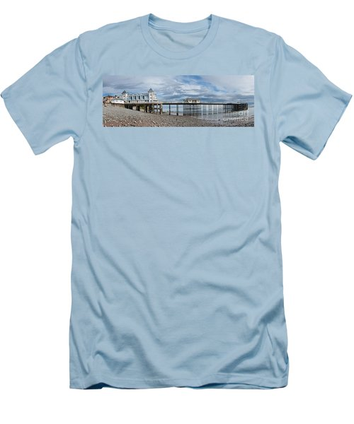 Penarth Pier Panorama 1 Men's T-Shirt (Slim Fit)