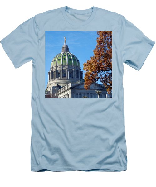 Pennsylvania Capitol Building Men's T-Shirt (Athletic Fit)