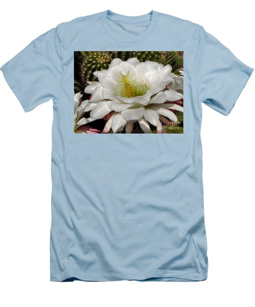 Men's T-Shirt (Slim Fit) featuring the photograph Petals And Thorns by Deb Halloran
