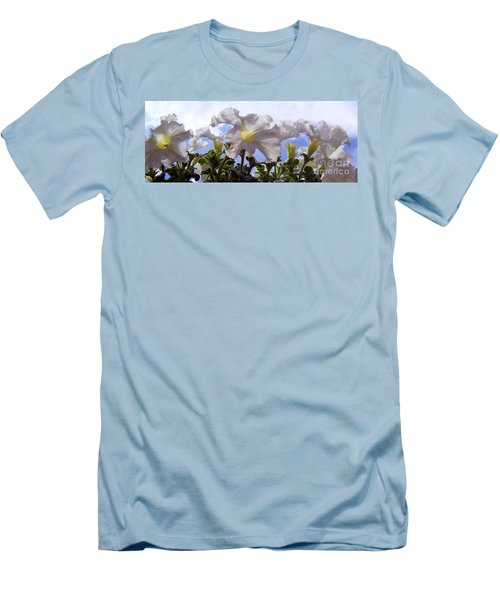 Men's T-Shirt (Slim Fit) featuring the photograph Petunia Sky by Janice Westerberg