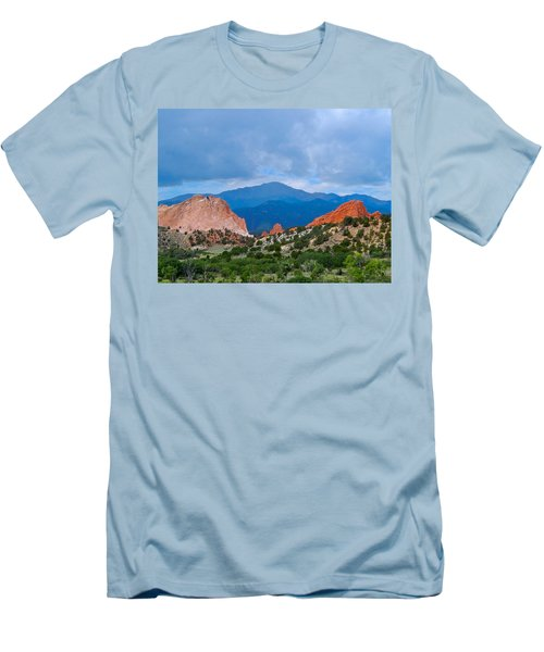Pikes Peak Men's T-Shirt (Slim Fit) by Dan Miller