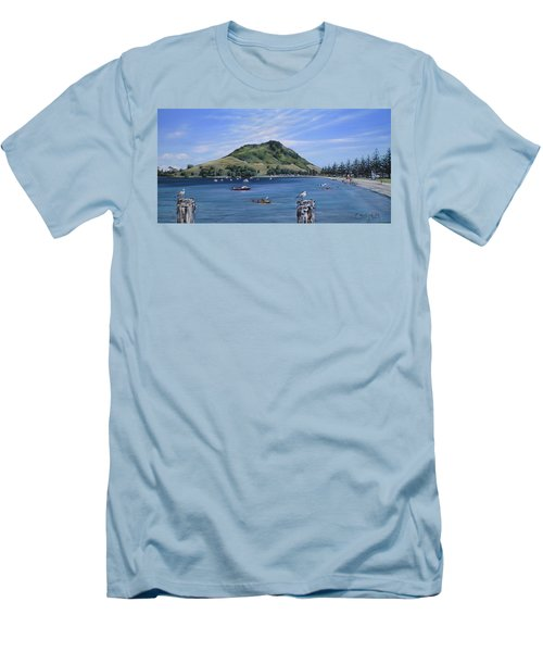 Pilot Bay Mt M 291209 Men's T-Shirt (Athletic Fit)