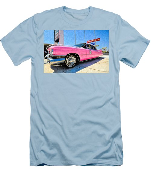 Pink Cadillac Men's T-Shirt (Slim Fit) by Liane Wright