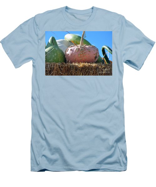 Pink Pumpkin And Friends Men's T-Shirt (Athletic Fit)
