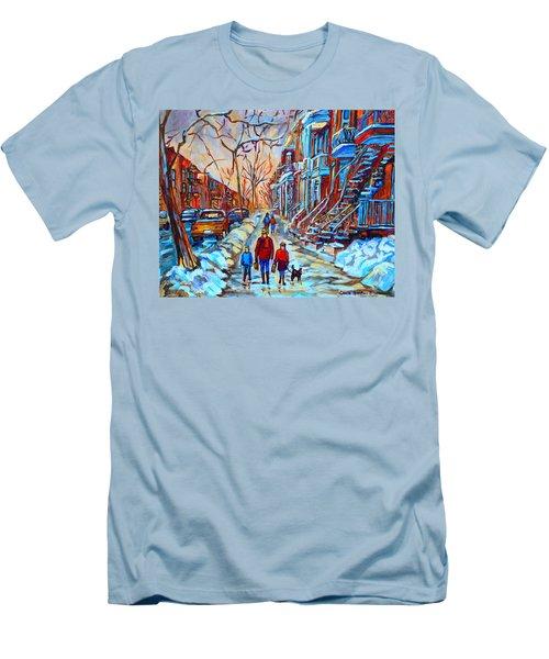 Plateau Montreal Street Scene Men's T-Shirt (Athletic Fit)