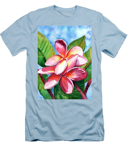 Playful Plumeria Men's T-Shirt (Athletic Fit)