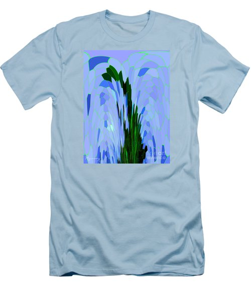 Men's T-Shirt (Slim Fit) featuring the digital art Point Of View by Mariarosa Rockefeller