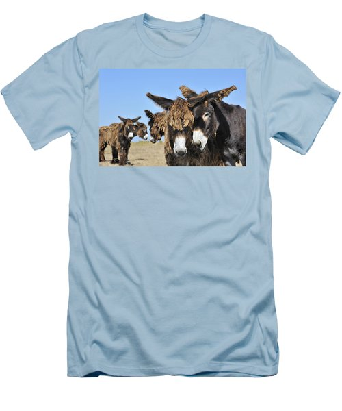 Men's T-Shirt (Slim Fit) featuring the photograph Poitou Donkey 3 by Arterra Picture Library