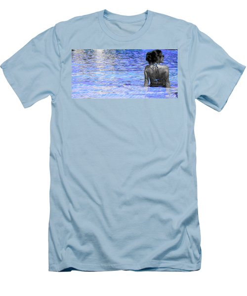Men's T-Shirt (Slim Fit) featuring the photograph Pool by J Anthony