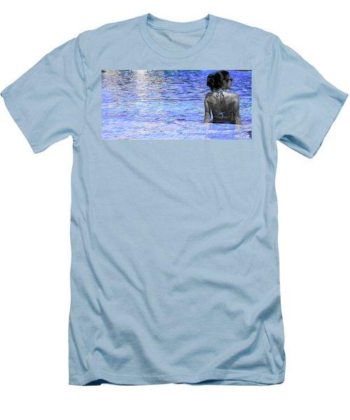 Pool Men's T-Shirt (Slim Fit) by J Anthony
