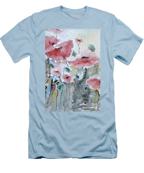 Poppies 01 Men's T-Shirt (Athletic Fit)