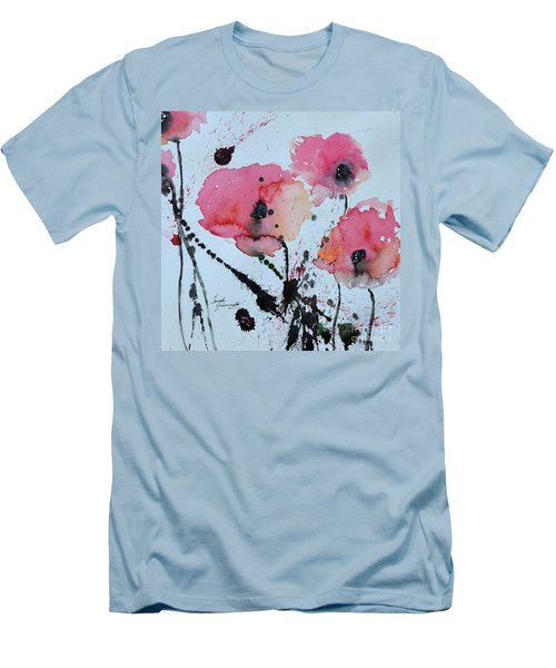 Poppies- Painting Men's T-Shirt (Athletic Fit)