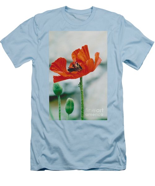 Poppy - 1 Men's T-Shirt (Slim Fit) by Jackie Mueller-Jones