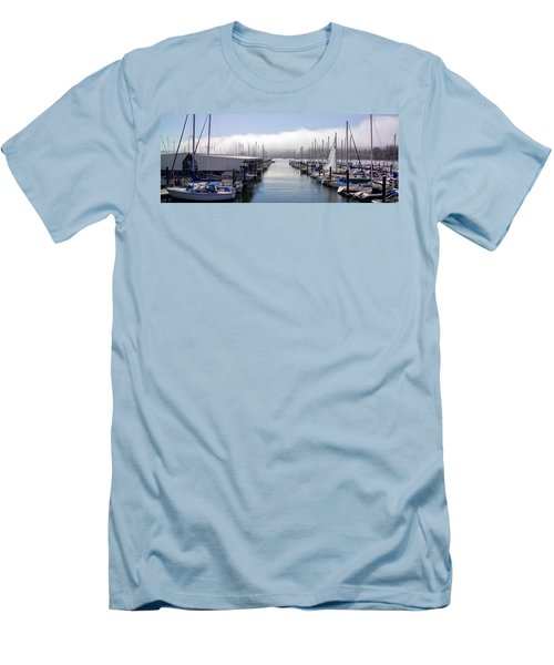 Men's T-Shirt (Slim Fit) featuring the photograph Port Kingston Marina by Greg Reed