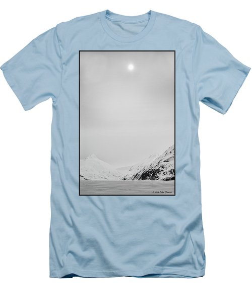 Portage Lake In Fog Men's T-Shirt (Athletic Fit)