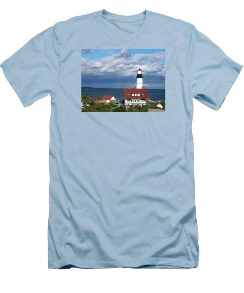 Portland Headlight Men's T-Shirt (Slim Fit) by Catherine Gagne