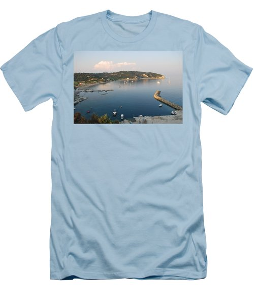 Men's T-Shirt (Slim Fit) featuring the photograph Porto Bay by George Katechis