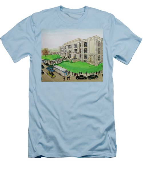 Portsmouth Trojans Travel To An Away Game Men's T-Shirt (Slim Fit) by Frank Hunter