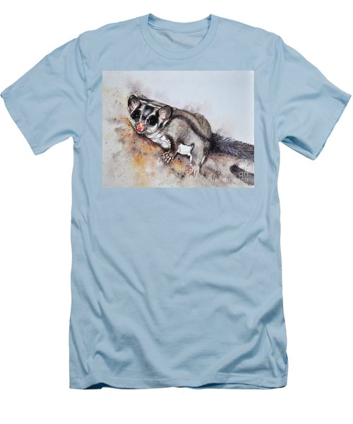 Possum Cute Sugar Glider Men's T-Shirt (Slim Fit) by Sandra Phryce-Jones