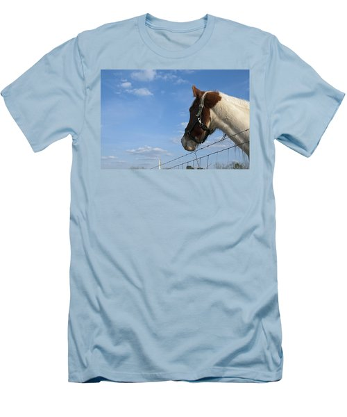 Men's T-Shirt (Slim Fit) featuring the photograph Profile Of A Horse by Charles Beeler