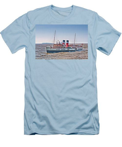 Ps Waverley Approaching Penarth Men's T-Shirt (Slim Fit) by Steve Purnell