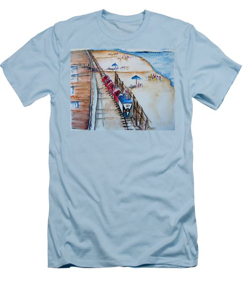 Pt Pleasant Nj Sand Train Men's T-Shirt (Athletic Fit)