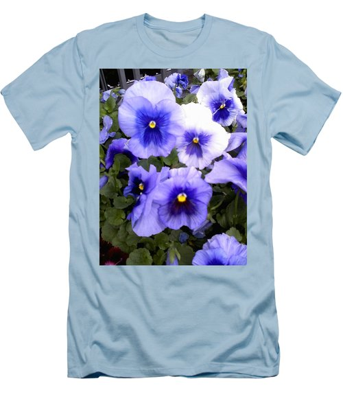 Men's T-Shirt (Slim Fit) featuring the photograph Purple Morning Glory by Fortunate Findings Shirley Dickerson