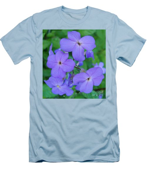 Men's T-Shirt (Slim Fit) featuring the photograph Purple Passion by Sara  Raber