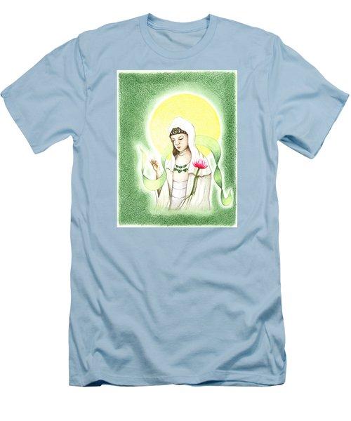 Quan Yin Men's T-Shirt (Athletic Fit)