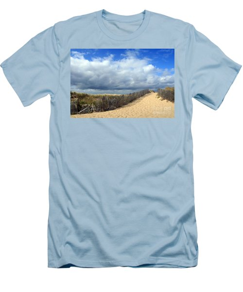 Men's T-Shirt (Slim Fit) featuring the photograph Race Point by Paula Guttilla