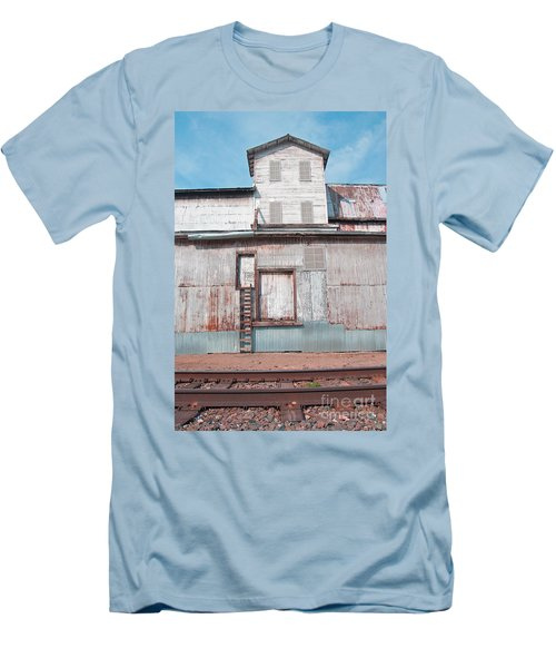Railroad To The Past Men's T-Shirt (Athletic Fit)