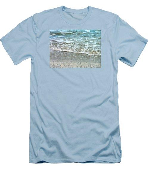 Rain Sea  Men's T-Shirt (Slim Fit) by Oleg Zavarzin