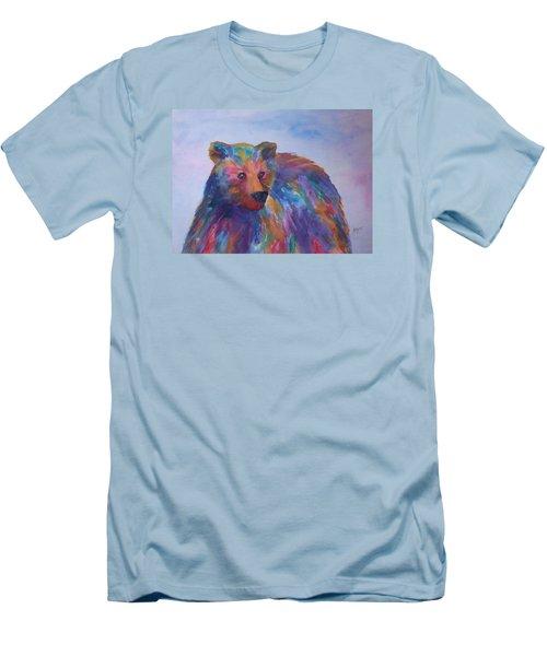 Rainbow Bear Men's T-Shirt (Slim Fit) by Ellen Levinson