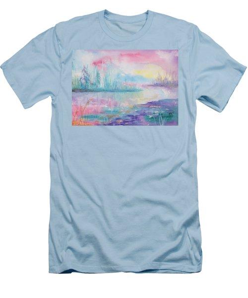 Rainbow Dawn Men's T-Shirt (Athletic Fit)