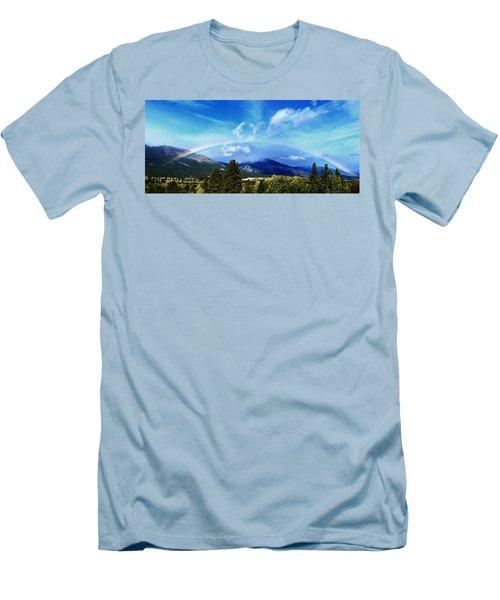 Rainbow Over Hamilton Montana Men's T-Shirt (Athletic Fit)