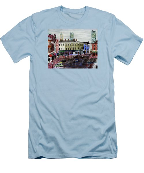 Rainy Day On Market Square Men's T-Shirt (Athletic Fit)