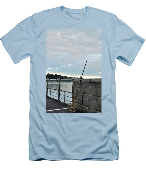 Men's T-Shirt (Slim Fit) featuring the photograph Rake Rests Itself After A Hard Days Work by Imran Ahmed