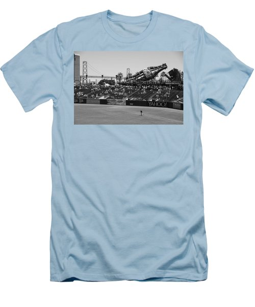 Raking The Lawn Men's T-Shirt (Slim Fit) by Eric Tressler