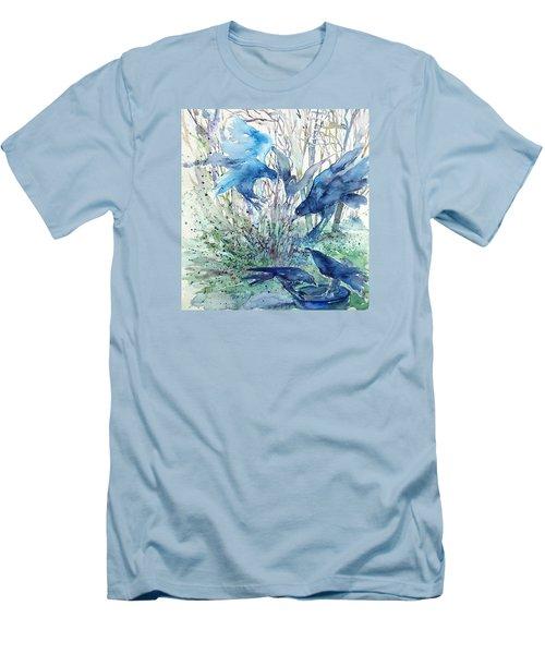 Ravens Wood Men's T-Shirt (Slim Fit) by Trudi Doyle