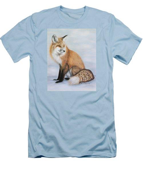 Red Fox Men's T-Shirt (Slim Fit) by Lena Auxier