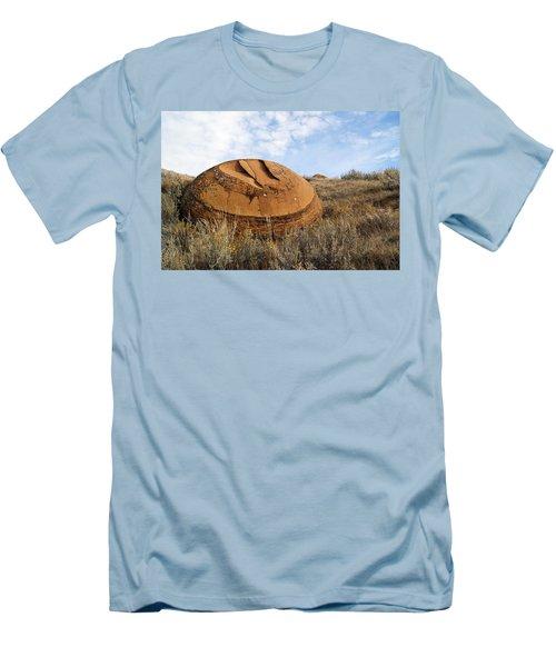 Red Rock Coulee I Men's T-Shirt (Slim Fit) by Leanna Lomanski