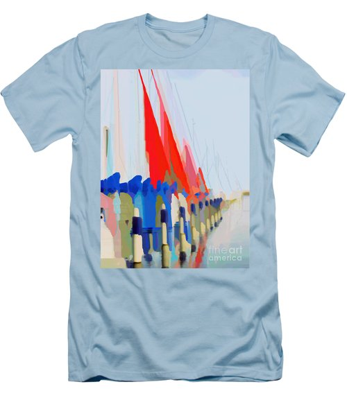 Red Sails In The Sunset Men's T-Shirt (Athletic Fit)